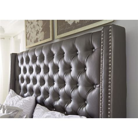 high padded headboard high headboard upholstered bed dramatic high headboards