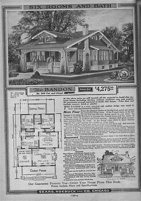 sears homes floor plans sears house plan craftsman bungalow vintage