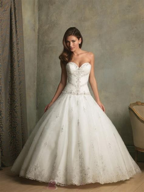 beaded ball gown wedding dress with sweetheart