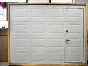Garage Door With Entry Door Built In pedestrian door diy cantilever sliding gate with