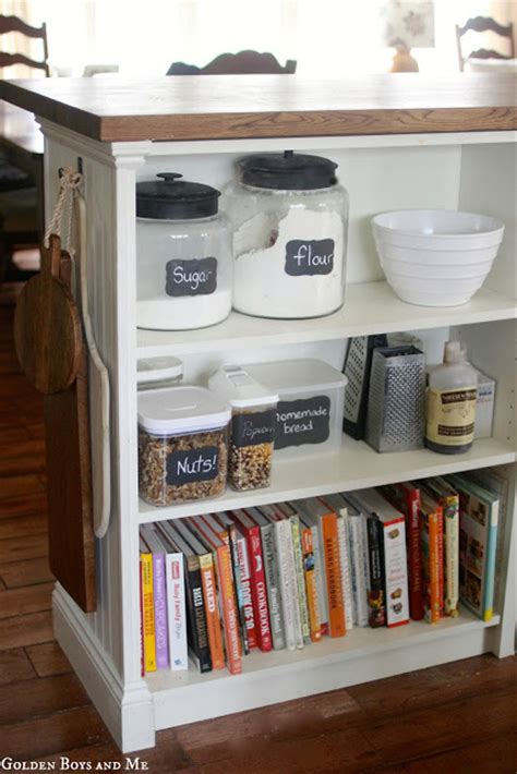 diy kitchen cabinet island ikea hack from a bookshelf