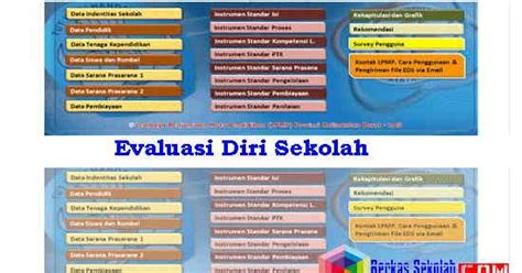 format evaluasi diri wakil kepala sekolah aplikasi evaluasi diri sekolah eds sd smp sma smk