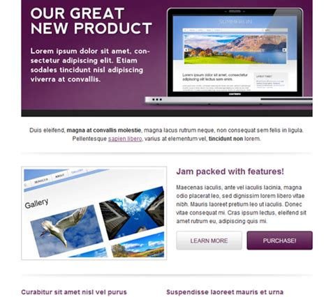 product email template 50 email templates to enhance your newsletter s appeal