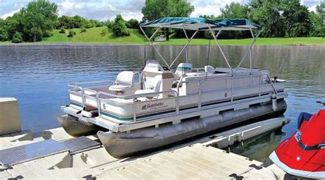 used pontoon boats detroit lakes mn ez pontoon lift at ease dock lift detroit lakes mn