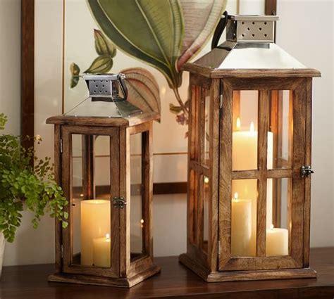 sumner woodworking sumner wood lantern pottery barn