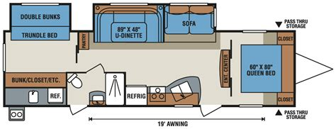 spree rv floor plans spree 174 322bhs lightweight travel trailer k z