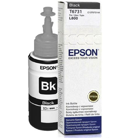 Epson Printer L800 Black epson l800 t6731 black ink bottle 70ml