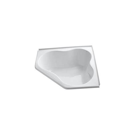 kohler corner bathtub kohler proflex 4 5 ft front drain corner bathtub in white