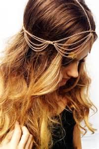 hair chains gold chain boho hair chain festival hair gold