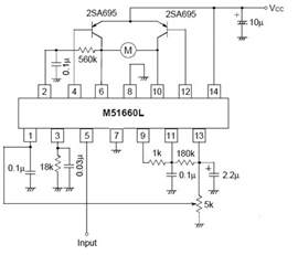 m51660l and l298d pin connections for diy rc servo motor