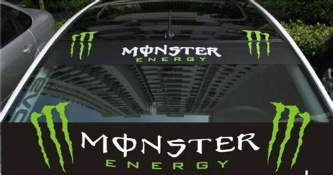 Monster Energy Windshield Sticker by Racing Monster Energy Decals Stickers Windshield