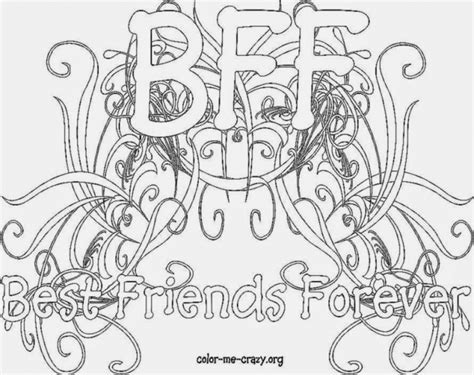 Best Friends Forever Coloring Sheets By Teodoro Mulierchile Best Friends Forever Coloring Pages For Free