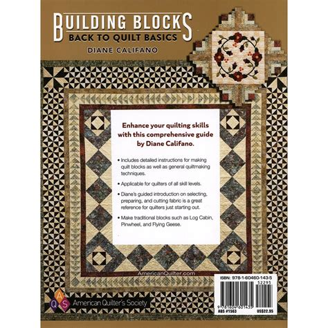 Quilting Basics by American Quilter S Society Building Blocks Back To