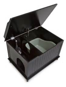 the designer catbox litter box enclosure in black free