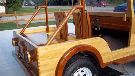 Wooden Jeep 1960 Jeep Willys
