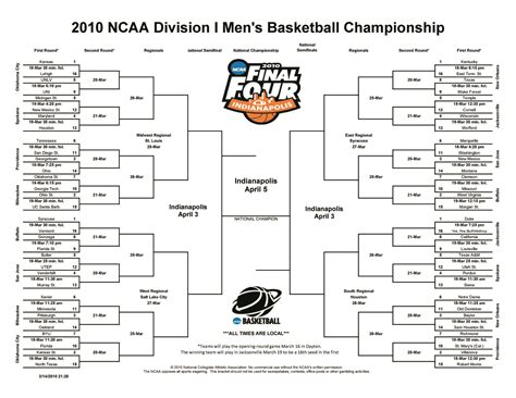 printable version ncaa bracket college basketball the east coast bias page 2