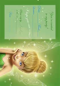 tinkerbell invitation for birthday quotes quotesgram