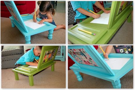diy kids art desk   cupboard door beesdiycom