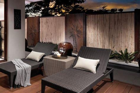 Terrassen Sichtschutz Glas 297 by Kombination Aus Bambus Und Cortenstahl Ein Moderner