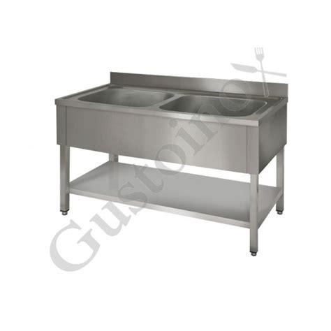 lavelli inox professionali lavello su gambe quadre in acciaio inox professionale 2 vasche