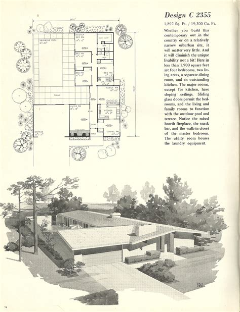 modern 70 s home design vintage house plans 2355 antique alter ego