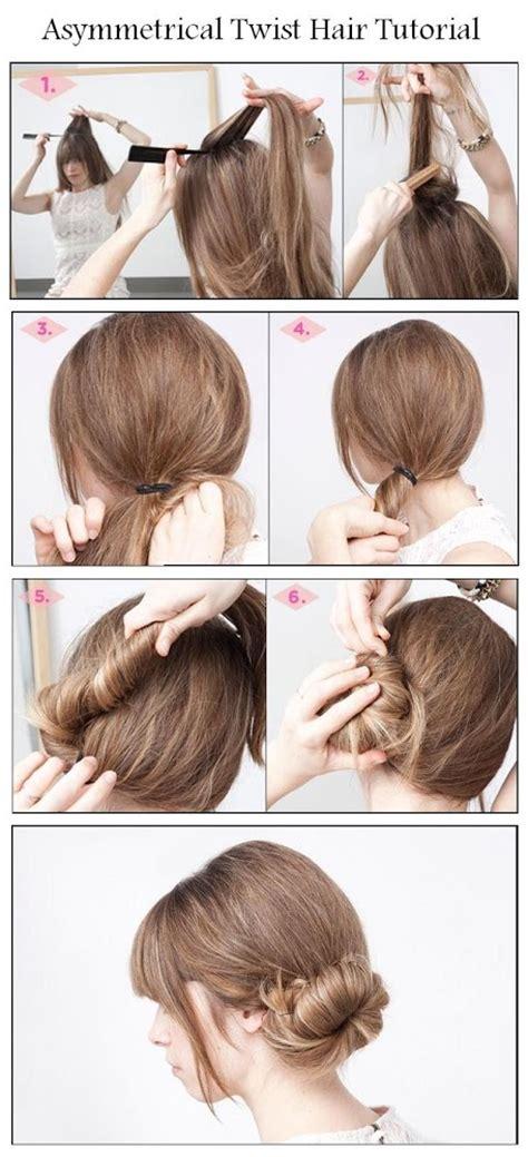 diy twist hairstyles diy asymmetrical twist hair hairstyle diy fashion tips