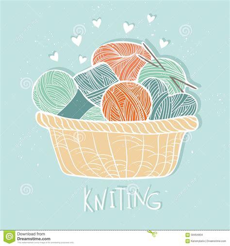 knit illustration vector vintage illustration set of knitting