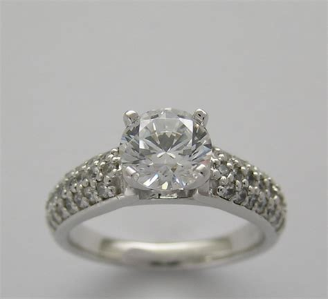 pave unique engagement ring setting