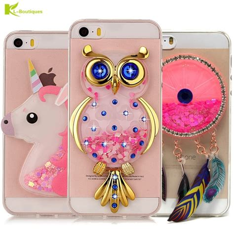 Softcase Iphone 5 Glitter Airsilikon Iphone 5 Glitter Air unicorn glitter liquid for iphone 5 cover for iphone 5s cases dynamic owl soft