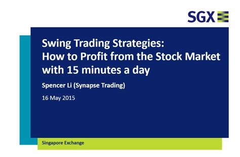 swing marke swing trading strategies how to profit from the stock