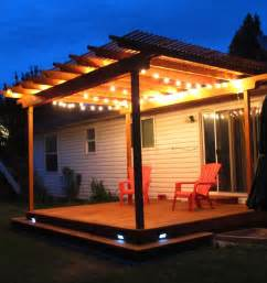 Lighting A Pergola by 21 Decking Lighting Ideas An Important Part Of Homes