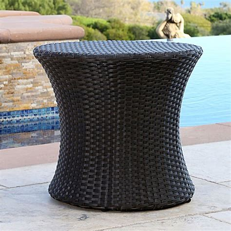 bed bath and beyond carlsbad buy abbyson living 174 carlsbad outdoor wicker end table in