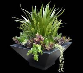 Preserved Boxwood Topiary - artificial succulent arrangement silk plants faux succulents fake succulent arrangement
