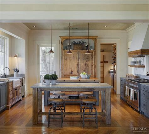 rustic kitchen lighting rustic cottage with neutral interiors home bunch