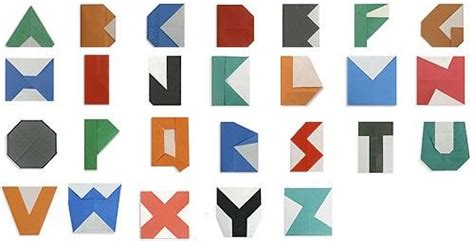 Origami For Letters - origami alphabet with folding alphabets