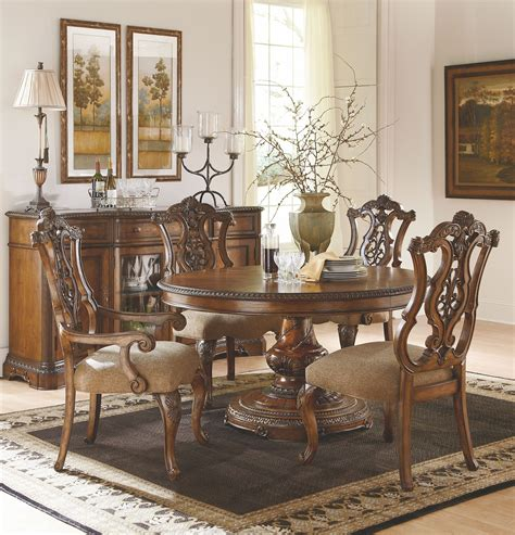 oval dining room set pemberleigh extendable round to oval dining room set from