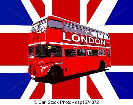 Clip Art De Autobus Drapeau Londres Royaume Uni