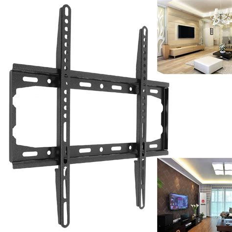 Wall Bracket Universal Led Tv 17 55 Breket Dinding Tembok Braket universal 45kg tv wall mount bracket fixed flat panel tv