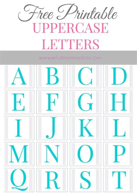 Free Printable Alphabet Letters A To Z Whatmommydoes On Pinterest Printable Alphabet Letters Letters Templates For Free