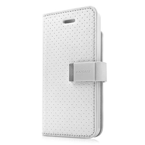 Capdase Folder Sider Polka For Apple Iphone5 iphonese 5s 5 ケース folder sider polka white grey