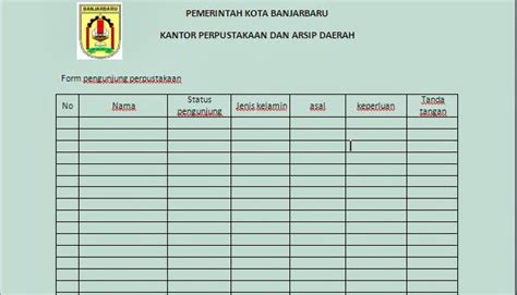 format buku tamu rt september 2013 sop perpustakaan