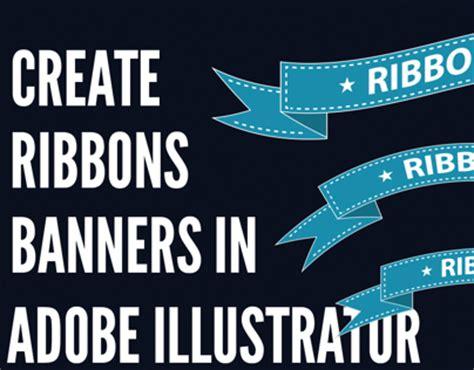 design banner using illustrator create a simple ribbon banner using adobe illustrator on