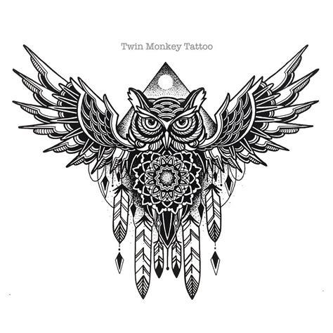 mandala owl tattoos on instagram