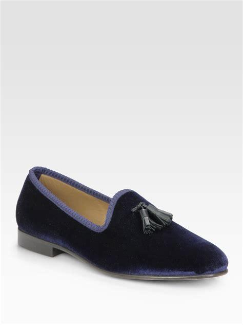 toro slippers sale toro tassle slipper shoe in blue for navy lyst