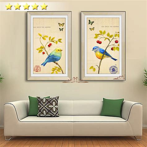 parrot home decor ᐂchinese style 2 pcs poster picture picture cuckoo