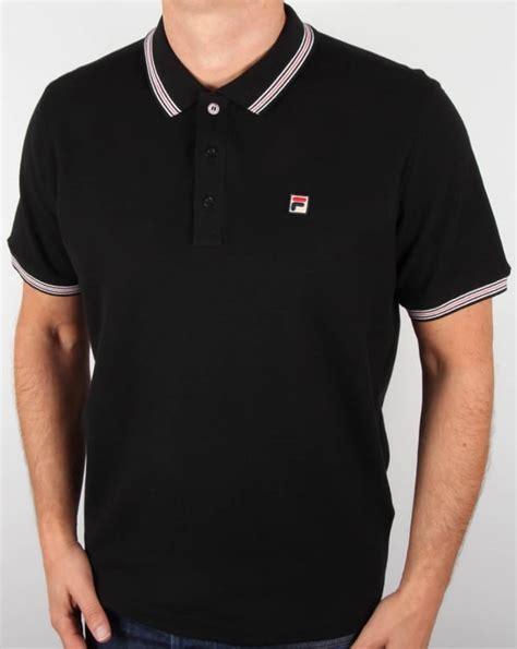 Polo Shirt Fila 3 fila vintage matcho 3 polo shirt black classic mens borg