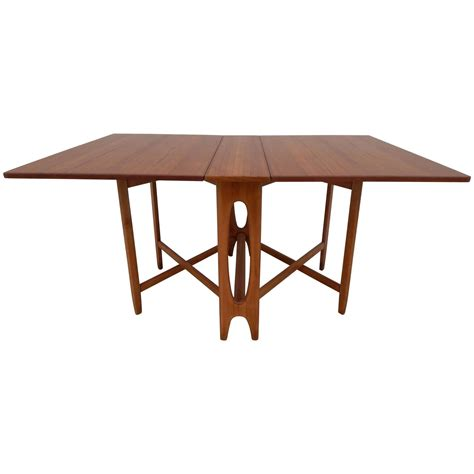 bruno mathsson style teak gate leg table at 1stdibs
