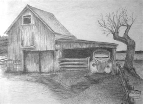 scheune zeichnung how to draw landscapes drawing class landscape by