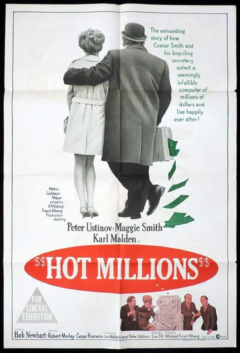 film hot millions hot millions one sheet movie poster peter ustinov maggie smith