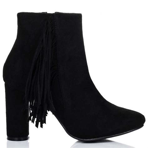 spylovebuy michigan black ankle boots shoes at